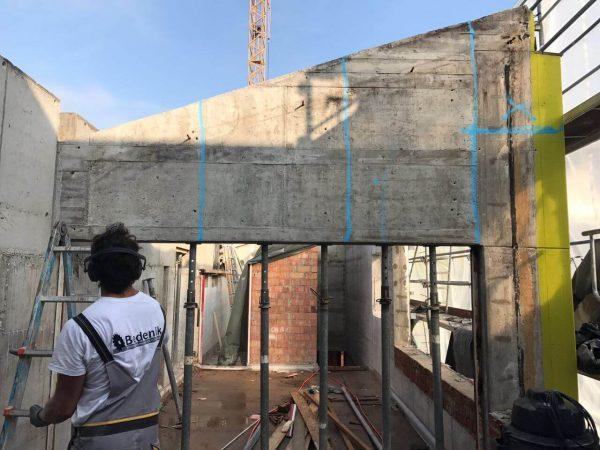 Abbrucharbeiten mit Betonsäge